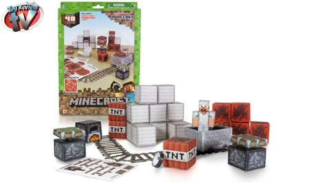 Minecraft Overworld Deluxe Papercraft Pack - minecraft papercraft overworld minecart pack from jazwares