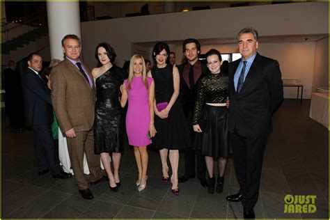 at the an evening with downton abbey event at the television academy michelle dockery elizabeth mcgovern downton abbey