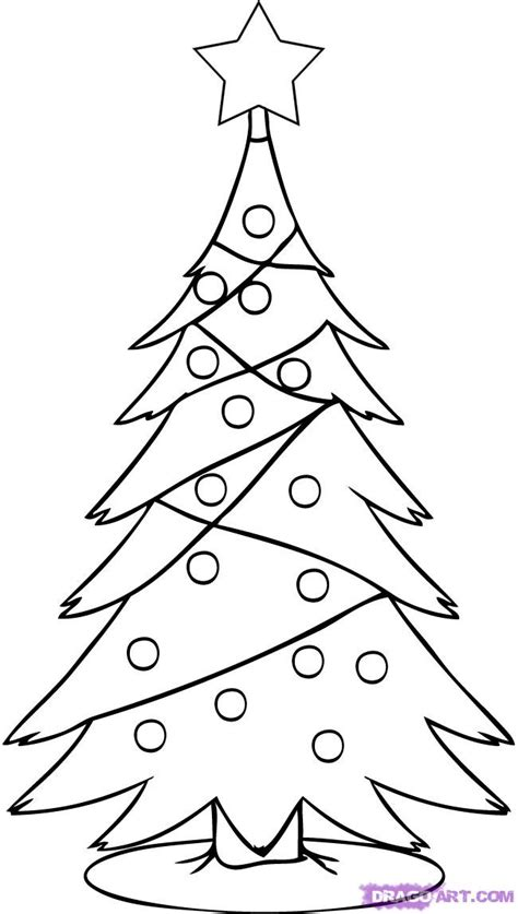 christ mas one drawing photo how to draw a simple tree step by step stuff seasonal free
