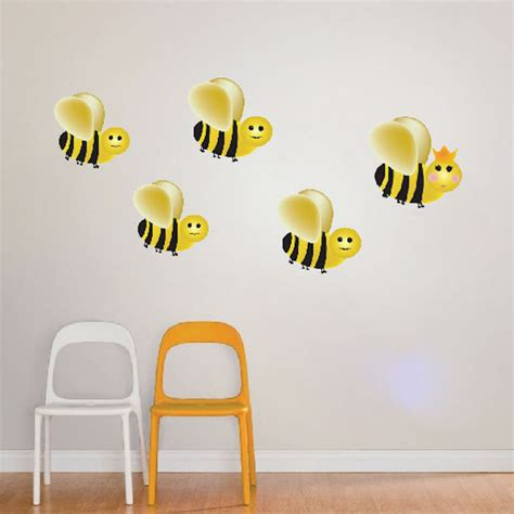 bee wall stickers bumblebee wall decal animal wall decal murals primedecals