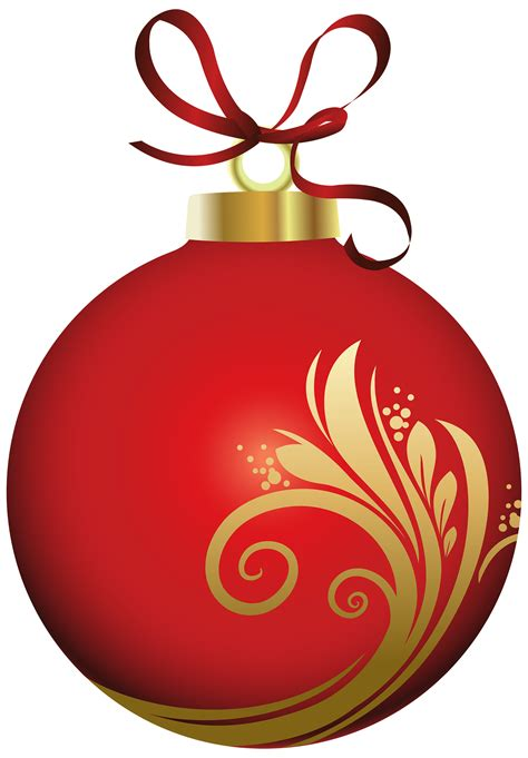 red christmas ball with decoration png clipart best web