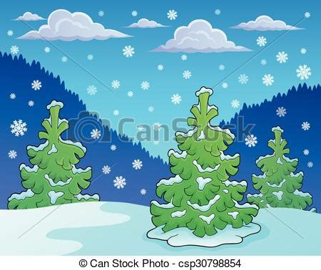 theme line winter clipart vector of winter season theme image 1 eps10