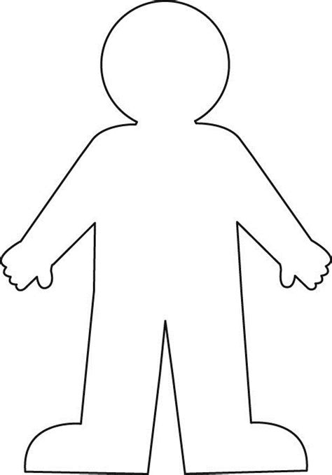 cut out person template worksheet with a blank outline search
