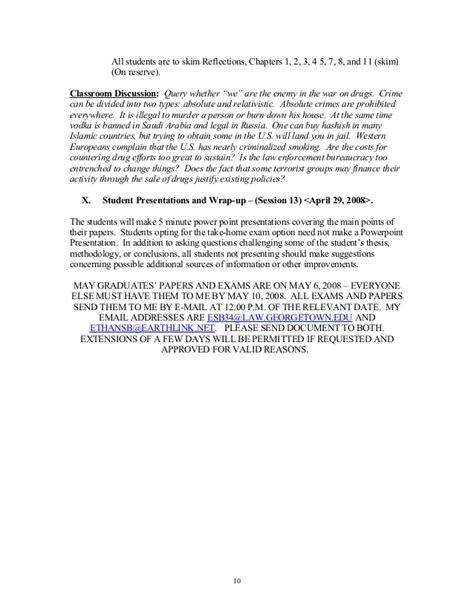 International Economics Syllabus Mba by Syllabus For 2008 Gulc International Economic Crime