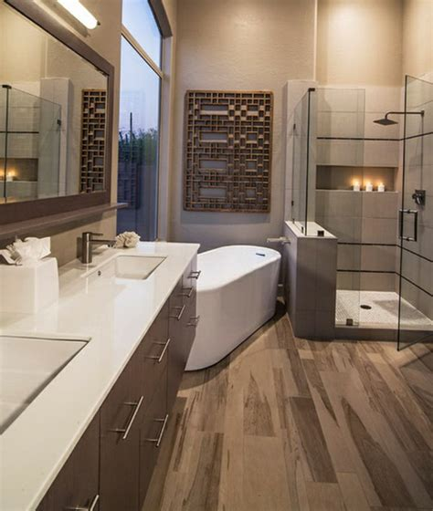 Modern Wood Bathroom by Enjoy The Warmth And Of Wood Wood Tiles Hum Ideas