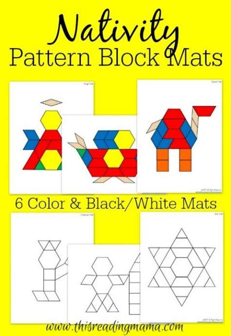 christmas pattern block mats free nativity pattern block mats reading pattern blocks