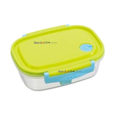 Lunch Box For Onigiri Green fully microwave tight bento lunch box green 720 ml all