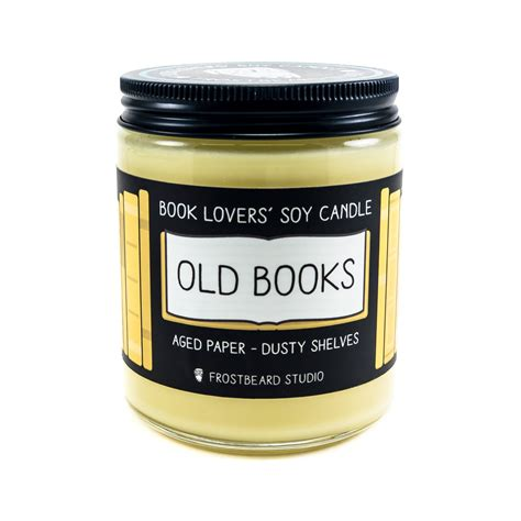 scented soy candle unique candle book lover s candle old books 8 oz book lover s soy candle book candle