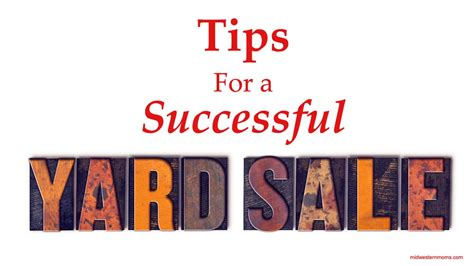 Tips For A Successful Garage Sale by Tips For A Successful Yard Sale