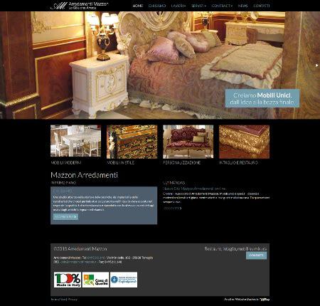 sito arredamento on line arredamenti mazzon produzione mobili artigianali