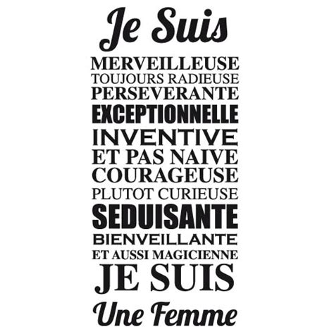 Sticker Citation Femme I0162