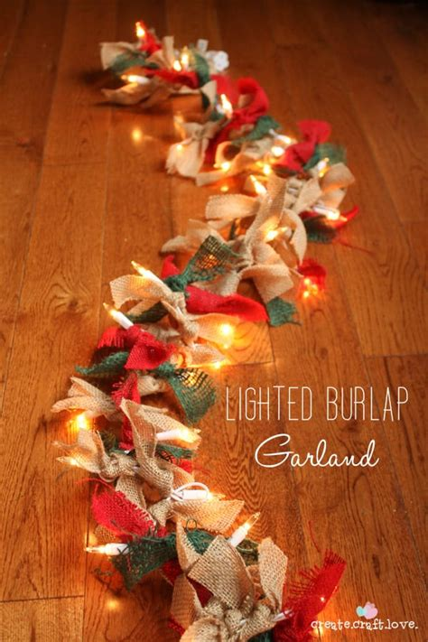where do you get best christmas decorations lighted burlap garland