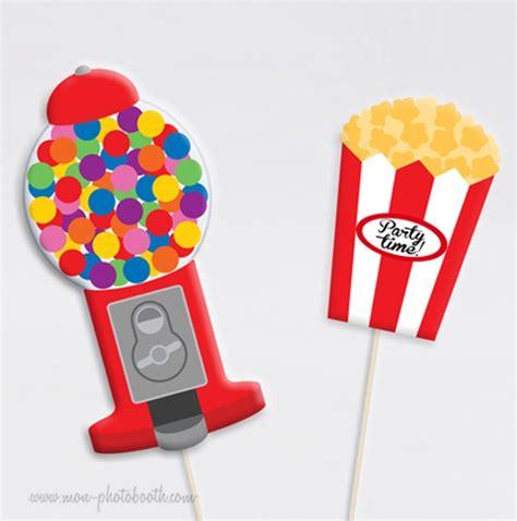 designer wohnaccessoires 2191 bubblegum et pop corn photobooth accessoires mon photobooth