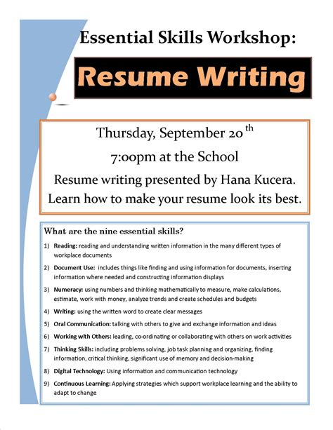 resume writing classes and dynamic resume writing