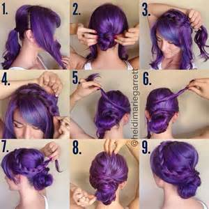 updos for hair step by step step by step easy updos for short hair