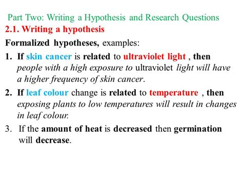 how to write a hypothesis in a research paper writing a research ppt