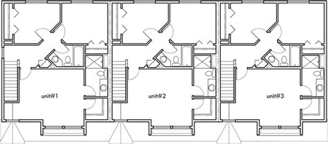 25 wide house plans triplex house plans 3 bedroom town houses 25 ft wide house plan