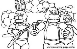 Print five nights at freddys fnaf music band coloring pages free