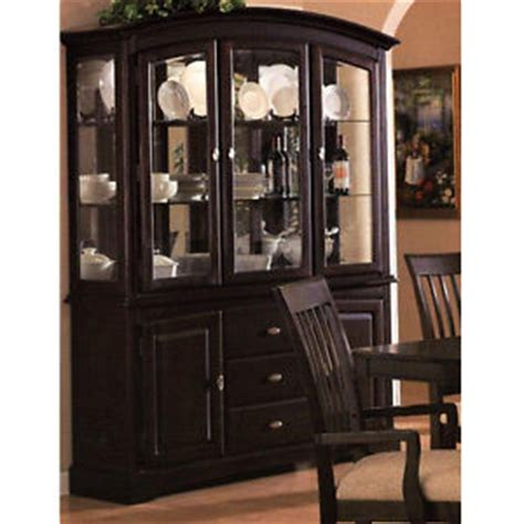 dining room china cabinet hutch china cabinet cappuccino formal dining room contemporary buffet hutch ebay