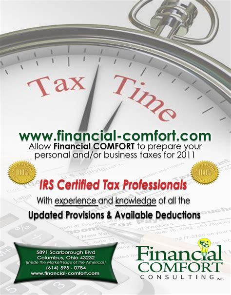 5 best images of tax preparation flyers income tax