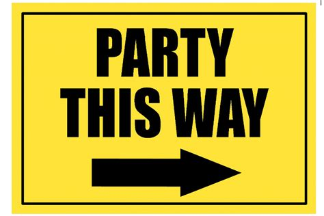 this way for the construction party sign party this way by pimpyourparty on etsy