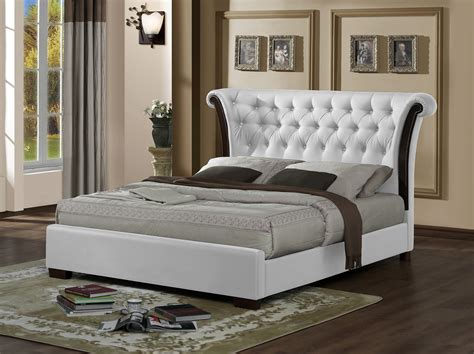 chesterfield bed frame bed chesterfield white faux leather bed frame