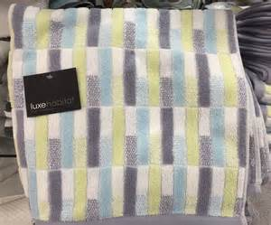 blue and yellow bath towels new luxe habitat yellow blue gray and white 100 cotton