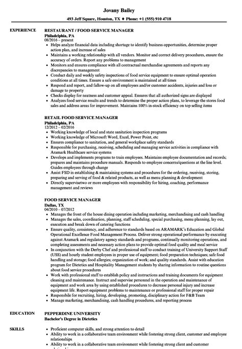 resume summary exles food service manager food service manager resume sles velvet