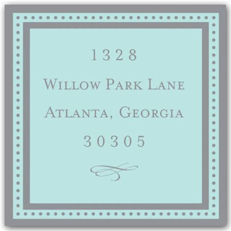 graduation silver blue return address labels paperstyle dotted frame blue square return address labels paperstyle