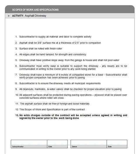 Scope Of Work And Specifications How To Build A Home Step 9 Armchair Builder Blog Build General Scope Of Work Template