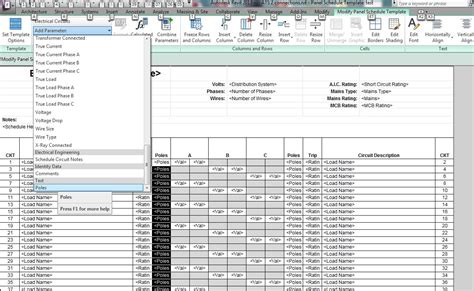 electrical load schedule template revit mep 2013 is it possible to undock panel schedules