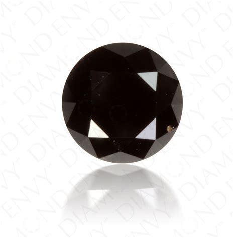 black diamond 1 25 carat round brilliant natural fancy black diamond