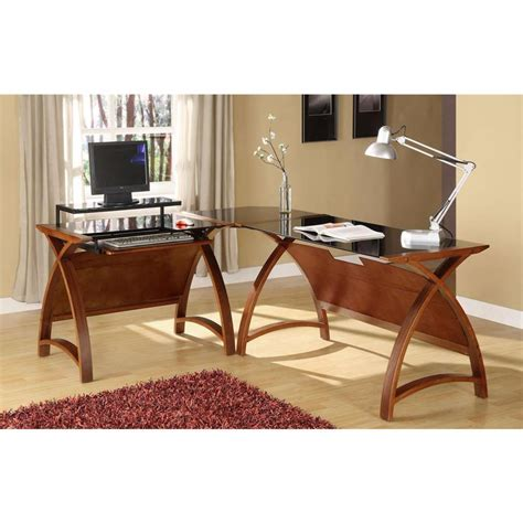 Walnut Corner Desk Computer Desks And Home Office Furniture For The Home And Office
