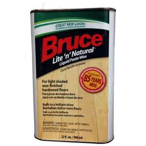 bruce 32oz lite n natural wood floor paste wax rakuten com