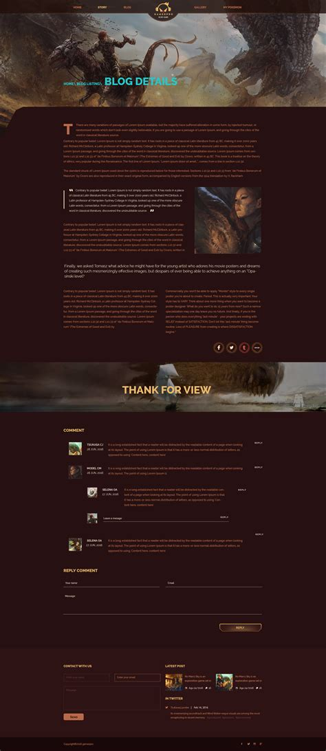 game layout psd gamerpro fantastic blog psd template for game sites by