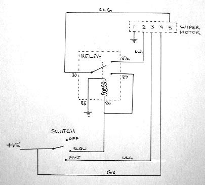 wiper motor wiring iain s seven