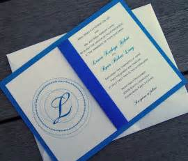 monogram wedding invitation blue wedding invitation royal