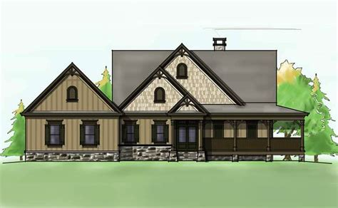 max house plans lakefront house plan with wraparound porch and walkout