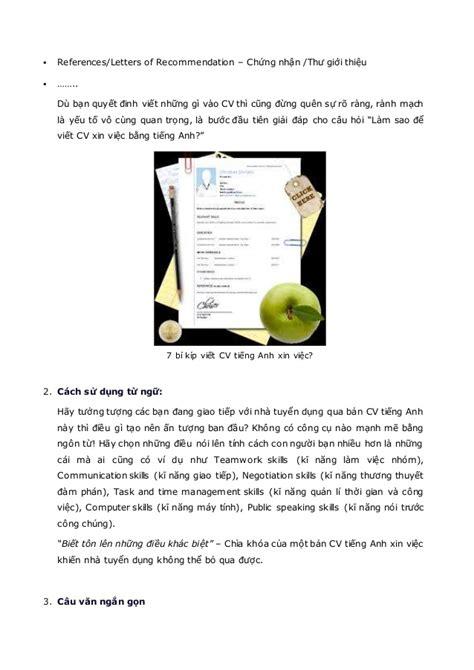 Xin Recommendation Letter 7 B 237 K 237 P Viết Cv Tiếng Anh Xin Việc Thuyết Phục Nhất