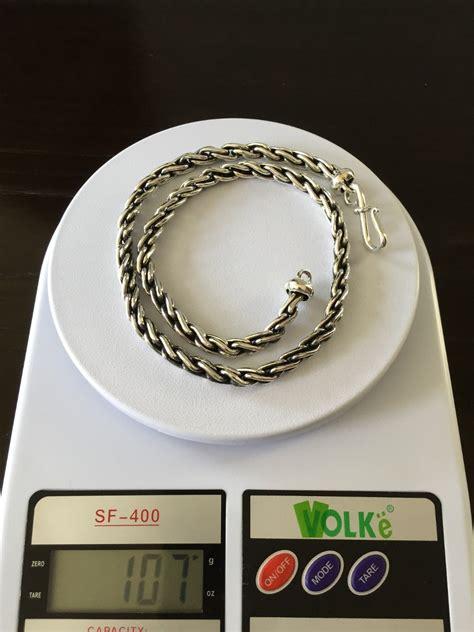 cadena de plata torzal para hombre cadena gruesa de plata ley 925 mod torzal liso para