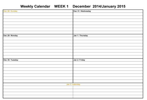 two week calendar template calendar template weekly