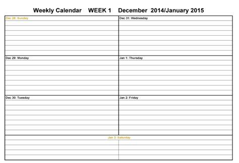 2 week calendar template 4 week calendar blank calendar template 2016