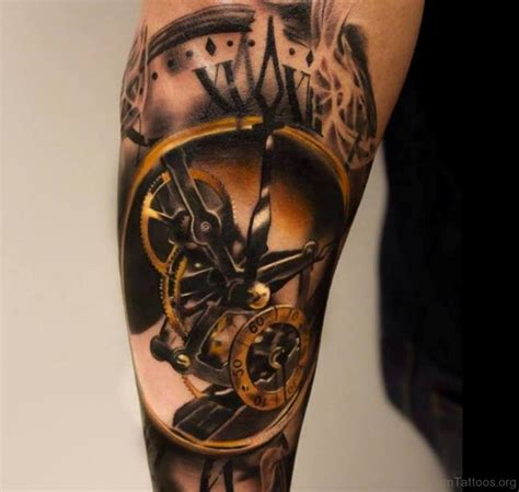 50 brilliant clock tattoos on arm
