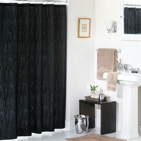 black bathroom curtains gorgeous black shower curtain design ideas for simply