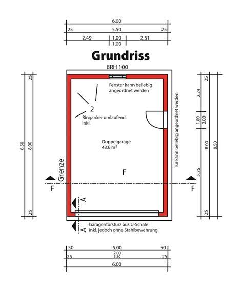 garage abmessungen grundrisse f 252 r fertiggaragen wichtig f 252 r bauherren