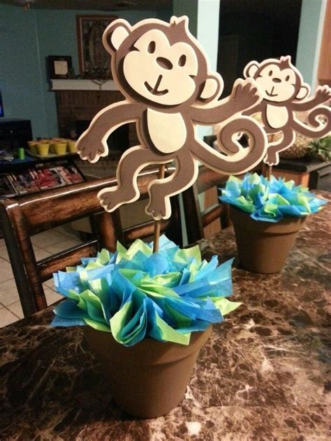 Monkey Baby Shower Centerpieces by 25 Best Ideas About Monkey Centerpiece On