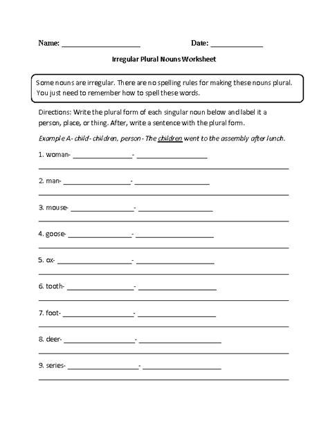 Irregular Plurals Worksheet by 18 Best Images Of Irregular Verb Worksheets Free