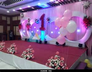 Decorate Home For Birthday Party by Birthday Party Decoration At Shenbaga Hotel And Convention
