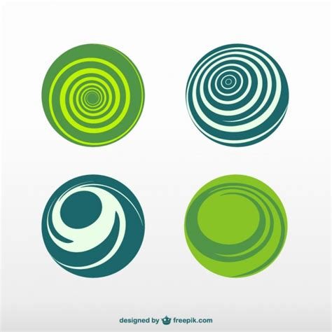 Green and blue round logos Vector   Free Download