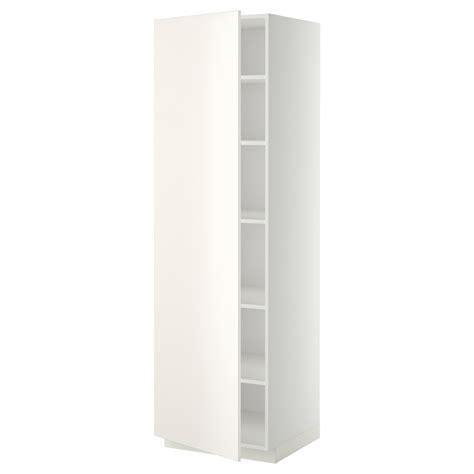 schrank 60x60 metod high cabinet with shelves white veddinge white